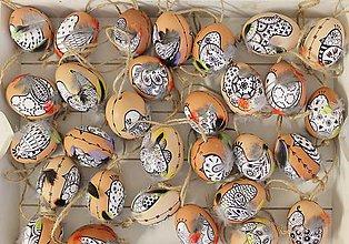 Dekorácie - Slepačie vajíčko /vtáčiky a pierka  - 9287715_