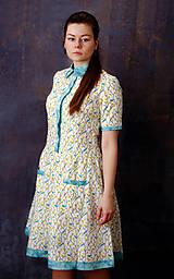 Košeľové šaty s vtáčikmi a batikou na privolanie jari