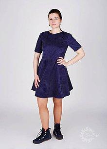 Šaty - Menčestrové šaty s jemnými bodkami - 9293892_