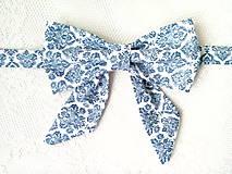 Náhrdelníky - Dámsky motýlik Modrý orient - 9292540_