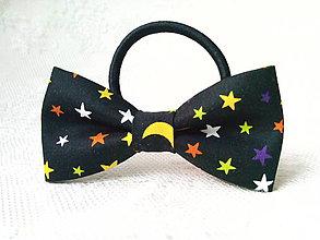 Ozdoby do vlasov - Night sky hair bow - 9292673_