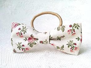 Ozdoby do vlasov - Romantic vintage hair bow - 9292691_