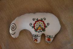 Dekorácie - vyšívaná ovečka omaľovánka - 9291227_
