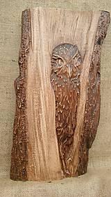 Dekorácie - Sovička drevorezba - 9291520_