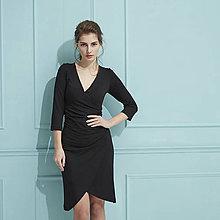 Šaty - Šaty s riasením (čierne) - 9293295_