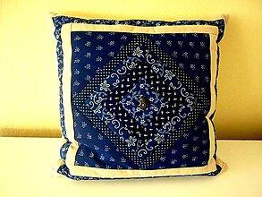 Úžitkový textil - Obliečky modrotlač a ľan (pásiky) - 9293817_