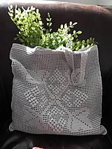 Veľké tašky - Háčkovaná nákupná taška - 9291533_