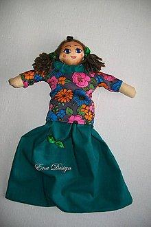Úžitkový textil - bábika na igelitky -Tyrkyska - 9291540_