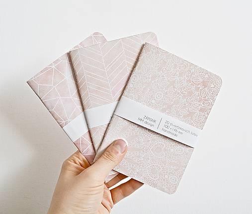 Papiernictvo - 3 zápisníky - marhuľkové - 9293338_
