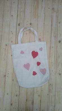 Nákupné tašky - Eko látková nákupná taška so srdiečkami - 9290403_
