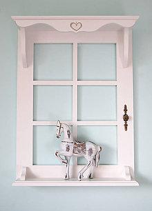 Nábytok - Polica okno 2 (Biela) - 9292982_