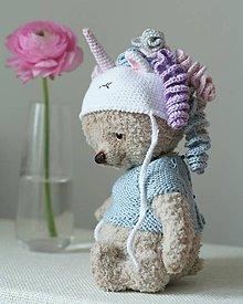 Hračky - Medvedík jednorožec - 9290852_