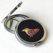 Zrkadielka - Grey Birds - zrcátko do kabelky - 9293459_