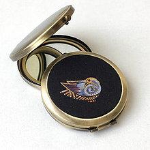 Zrkadielka - Grey Birds - zrcátko do kabelky (menší) - 9293764_