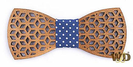 """Doplnky - Pánsky drevený motýlik """"Rubik"""" - 9293174_"""