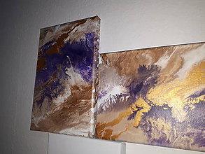 Obrazy - Zlato fialové potešenie - 9293583_