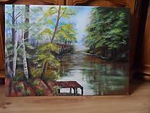 Obrazy - Poludnie pri rieke - 9290285_