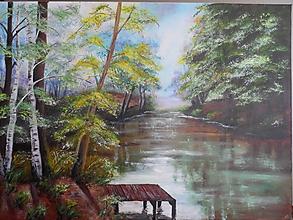 Obrazy - Poludnie pri rieke - 9290278_