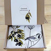 Úžitkový textil - Objednávka pre pani Luciu carmen 63 Darčekové balenie olivy - vtáčik - 9290627_