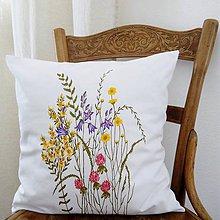 Úžitkový textil - Vankúš - zakvitnutá lúka - 9292727_