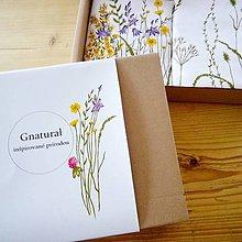 Úžitkový textil - Darčekové balenie ručne maľované trávy - lúčne kvety - 9292865_