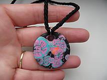 Náhrdelníky - jednoduchý náhrdelník z fima - 9291526_