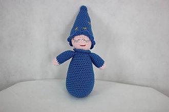 Hračky - Háčkovaný hajuško (bábika) (Modrá) - 9290435_