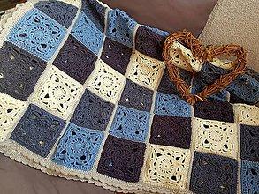 Úžitkový textil - Háčkovaná deka KATKA - 9291938_