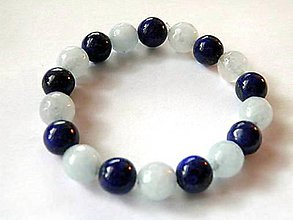 Náramky - Náramok Lapis lazuli s Akavamarínom-Unisex - 9291121_