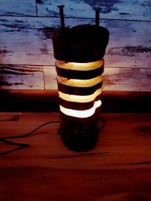 Svietidlá a sviečky - Nočná lampa peň - 9290907_