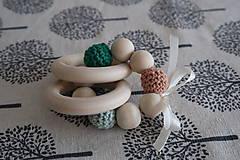 Hračky - Hryzátko do rúčky - hrkálka - 9291464_