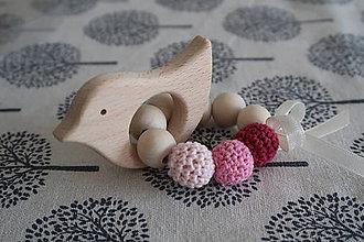 Hračky - Hryzátko do rúčky - hrkálka - 9291452_