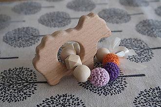 Hračky - Hryzátko do rúčky - hrkálka - 9291465_