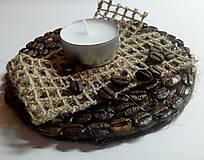 Svietidlá a sviečky - Kávový svietnik - 9294012_