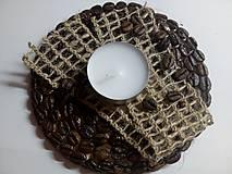 Svietidlá a sviečky - Kávový svietnik - 9294013_