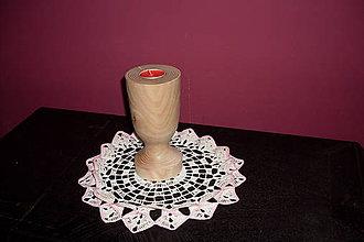Svietidlá a sviečky - sústružený svietnik - 9292894_