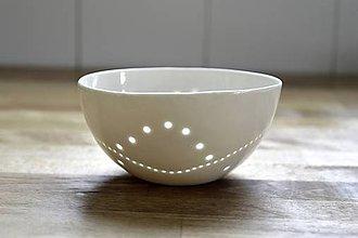 Nádoby - Madeirová porcelánová miska (Vlnky) - 9293517_