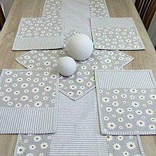 Úžitkový textil - Pásik a sedmokráska na režnej - prestieranie 25x35 - 9290766_