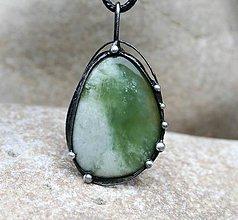Náhrdelníky - Serpentín náhrdelník/prívesok - 9291096_