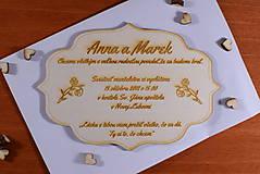 Papiernictvo - Svadobné oznámenie drevené gravírované 5 - 9290975_