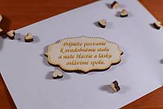 Papiernictvo - Pozvánka ku svadobnému stolu doplnok k svadobnému oznameniu - 9290990_