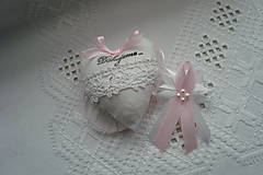 Darčeky pre svadobčanov - Svadobné srdiečko - 9293142_