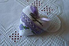 Darčeky pre svadobčanov - Svadobné srdiečko - 9293485_