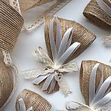 Pierka - Veľké svadobné pierka Ruban - Jute - 9290254_