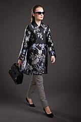 Kabáty - VÝPREDAJ Kvetovaný kabát - 9293690_
