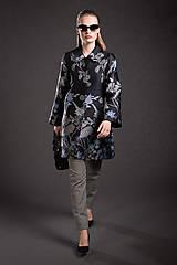 Kabáty - VÝPREDAJ Kvetovaný kabát - 9293691_