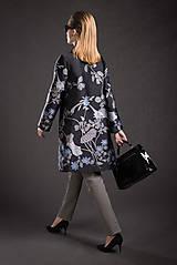 Kabáty - VÝPREDAJ Kvetovaný kabát - 9293692_