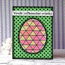 Papiernictvo - Geometrické veľkonočné vajíčko puntíky - trojuholníky - 9290148_