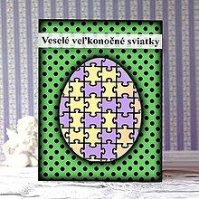 Papiernictvo - Geometrické veľkonočné vajíčko puntíky - puzzle - 9290816_