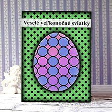 Papiernictvo - Geometrické veľkonočné vajíčko puntíky - guličky - 9291245_